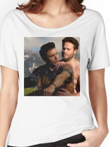 James Franco & Seth Rogen Women's Relaxed Fit T-Shirt