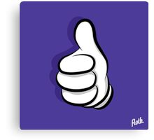 Thumbs Up Hand Canvas Print