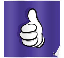 Thumbs Up Hand Poster