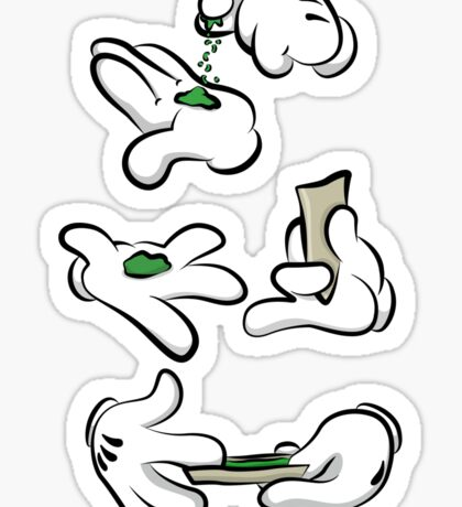 Weed Time Hands Sticker