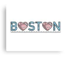 Boston Typography Canvas Print