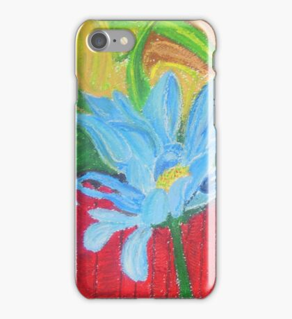 flower on a fence iPhone Case/Skin