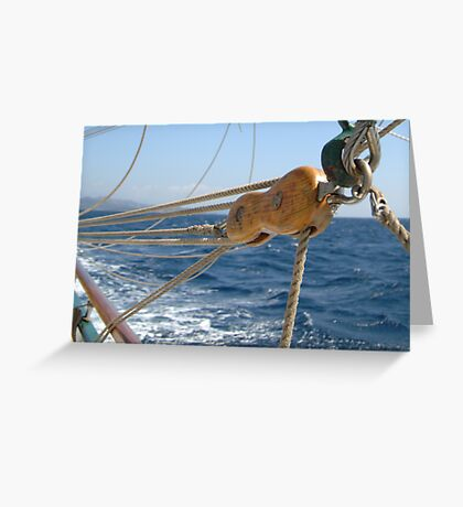 "Sailing: Schoner ""Sir Robert"" X - www.sir-robert.com Greeting Card"