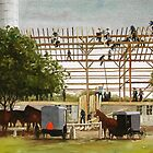 Amish Barnraising by Dale Ziegler