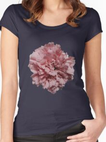 Single Pink Carnation - Hipster/Pretty/Trendy Flowers Women's Fitted Scoop T-Shirt