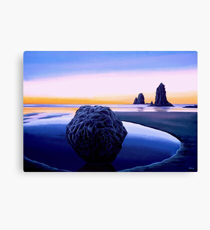 Earth Sunrise Painting Canvas Print