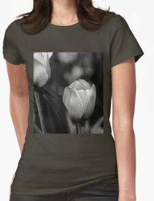 Tulips In Black And White T-Shirt