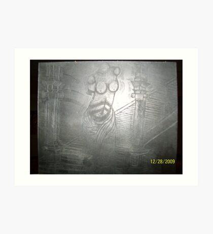 sculpture etchings Art Print