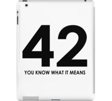 The meaning of life, the universe and everything iPad Case/Skin