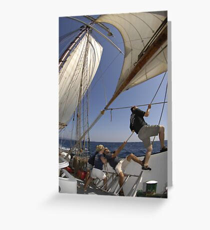 "Sailing: Schoner ""Sir Robert"" 4 - www.sir-robert.com Greeting Card"