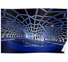 Webb Bridge Blue  Poster