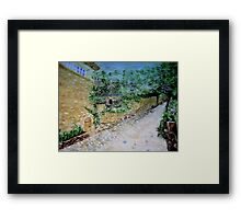 The Path by the Stone House  Framed Print