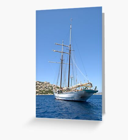 "Sailing: Clipper ""Sir Robert"" 7 - www.sir-robert.com Greeting Card"