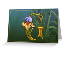 Letter G Greeting Card