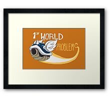 1st World Problems Orange Framed Print