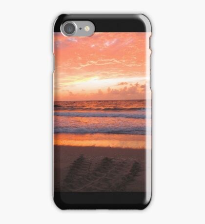 Loggerhead Crawl at Sunrise iPhone Case/Skin