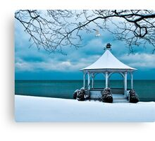 Gazebo along Lake Ontario Canvas Print