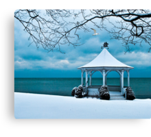 Gazebo along Lake Ontario Canvas Print