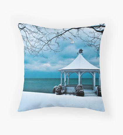 Gazebo along Lake Ontario Throw Pillow