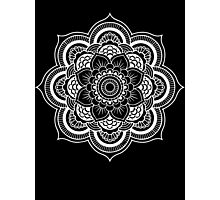 MANDALA WHITE Photographic Print