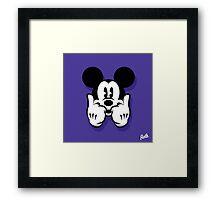Mouse Dope Head Framed Print