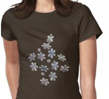 Happy Flower T-Shirt Womens Fitted T-Shirt