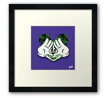 Mouse Kush Illuminati Head Framed Print
