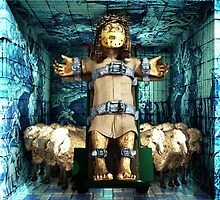 """Ecce Homo 85  """"SILENCE OF THE LAMB"""""""" by Polygonist"""