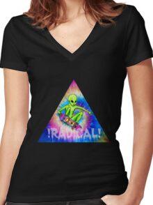 !Radical!  Women's Fitted V-Neck T-Shirt