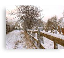 """Rural Winter White"" Canvas Print"
