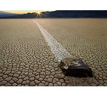 Racing Rock - Death Valley Photographic Print