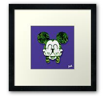 Mouse Kush Head Framed Print