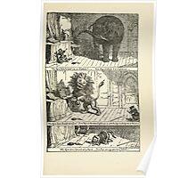 The Cruikshank Fairy Book Four Famous Stories George Cruikshank 1911 0041 Tom Puss Lion Ogre Mouse Poster