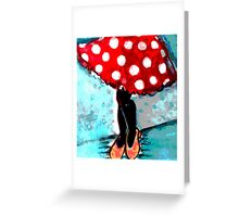 Minnie Skirt  Greeting Card