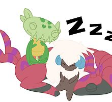 Resting Pokemon by ophion