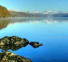 Coniston Water In Winter by Jamie  Green