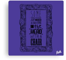 Chair Frame Canvas Print