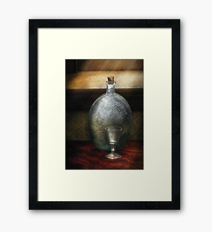 Bar - The Flask and the Glass Framed Print
