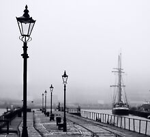 Misty morning at Leith Docks by onlyalice