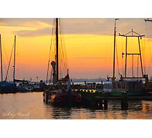 Sunset at Volendam, Netherlands Photographic Print