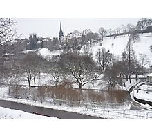 Princes Street Gardens in Winter Photographic Print