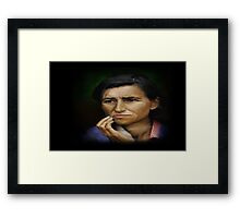 A mother`s Worry Framed Print
