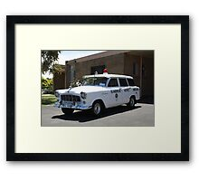 Holden FE Ambulance Framed Print