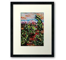 Dino Drama Framed Print