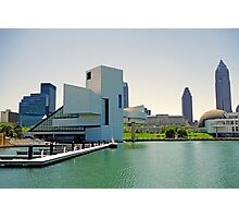 Cleveland Skyline from Pier  Photographic Print