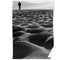Walking on shifting sand Poster