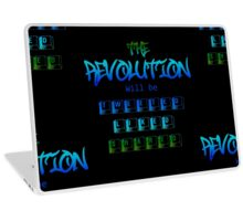 The revolution will be tweeted liked shared (Version 2) Laptop Skin