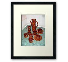 Coffee set Saxony 60s Framed Print