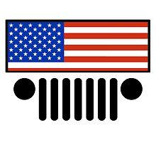 Jeep Wrangler American Flag BIG (shirt size) by apaluzzi27