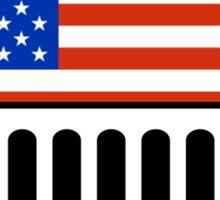 Jeep Wrangler American Flag BIG (shirt size) Sticker
